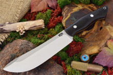 Bark River Knives Kalahari II - Black Canvas Micarta
