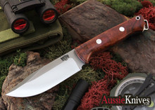Bark River Knives. Bravo Squad Leader. Desert Ironwood Burl. Black Liners.
