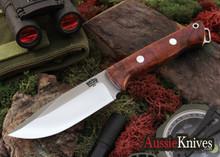 Bark River Knives: Cub - CPM 3V - Black Canvas Micarta