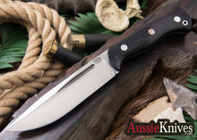 Bark River Knives: Cub - CPM 3V - Black Canvas Micarta