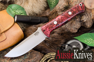 Bark River Bravo 1 Scarlet & Black Spotted Elder Burl - A2 (Bark River Bravo 1 Scarlet & Black Spotted Elder Burl - A2)