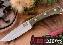 Bark River Fox River S35VN - Green Canvas Micarta