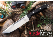 Bark River Knives - Bravo Squad Leader II - CPM 3V - Black Canvas Micarta