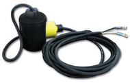 Pump Down Float Switch - Normally Open with Cable Weight & Female Quick Ends - 33ft Cable
