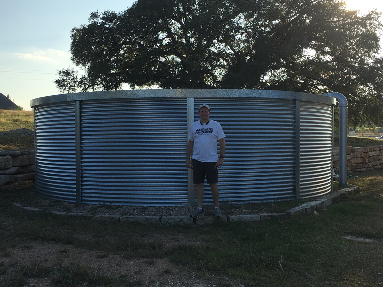 Image result for steel water catchment tank 28,000 gallons