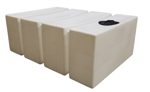 700 Gallon Rectangle Water Storage Tank - Shown here in Natural Color