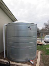 2500 Gallon Galvanized Steel Rainwater Storage Tank