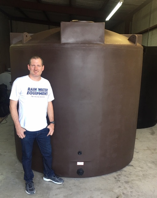 2500 Gallon Water Storage Tank - PM2500 - Dark Brown