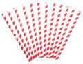 Red & White Paper Straws x12