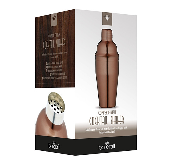 COCKTAIL SHAKER - COPPER LUXE LOUNGE - 500ml