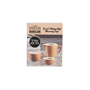 Cane Vintage Style Set Of 3 Measuring Cups