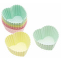 Silicone Heart Shaped Cake Case x12