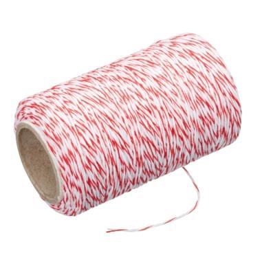 Butcher's Red & White Twine 60cm
