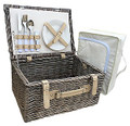Cream Lined 2 Person Chiller Hamper