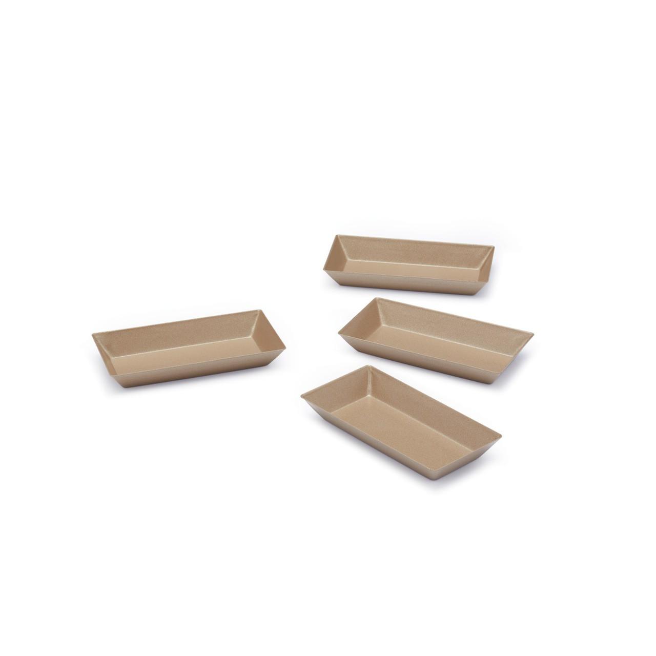 Paul Hollywood Set of 4 Non-Stick Mini Rectangular Baking Tins