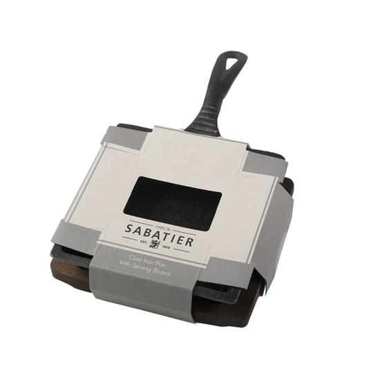 Sabatier Maison Small Square Cast Iron Pan And Base