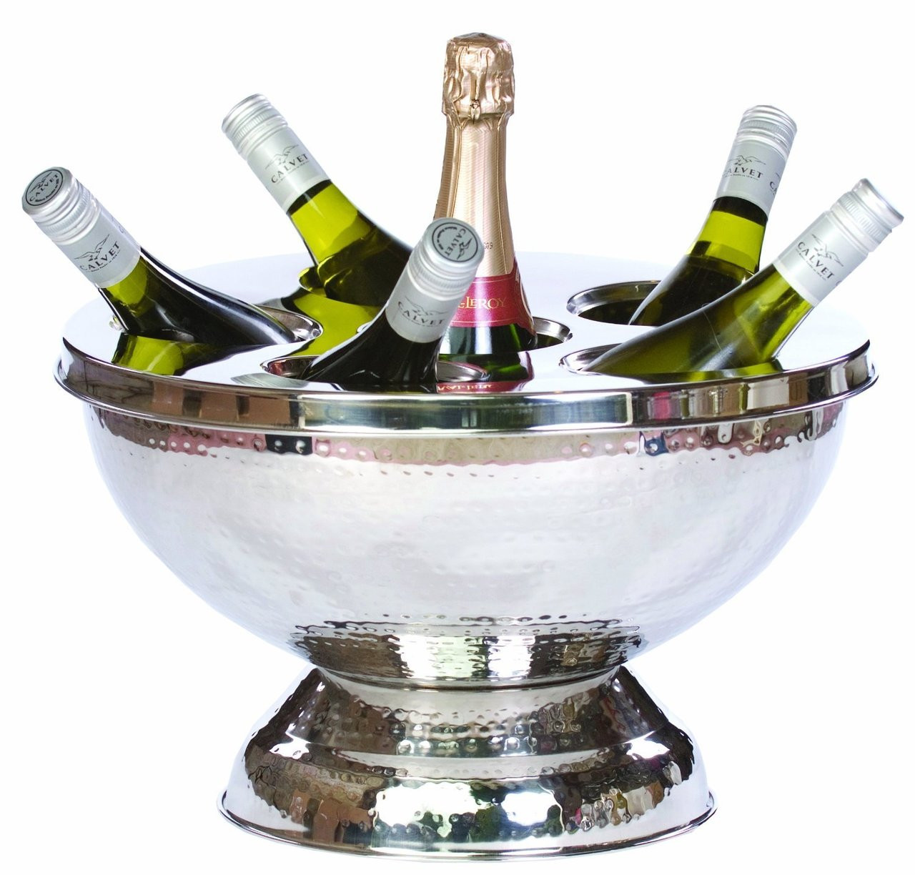 Silver 6 Bottle Wine/Champagne Cooler