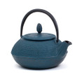 Cast Iron Teapot Blue With Trivet