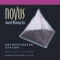 Novus Tea Decaffeinated Ceylon - Foil Sachet x 50