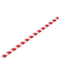 Paper Jumbo Red Stripe Straws 23cm