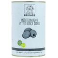 Chef's Brigade Pitted Black Olives - 4.1kg