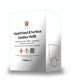 HAND AND SURFACE SANITISER 3LTR (W.H.O. FORMULA, 78% ALCOHOL)