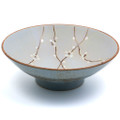 Plum Flower Design Blue Bowl