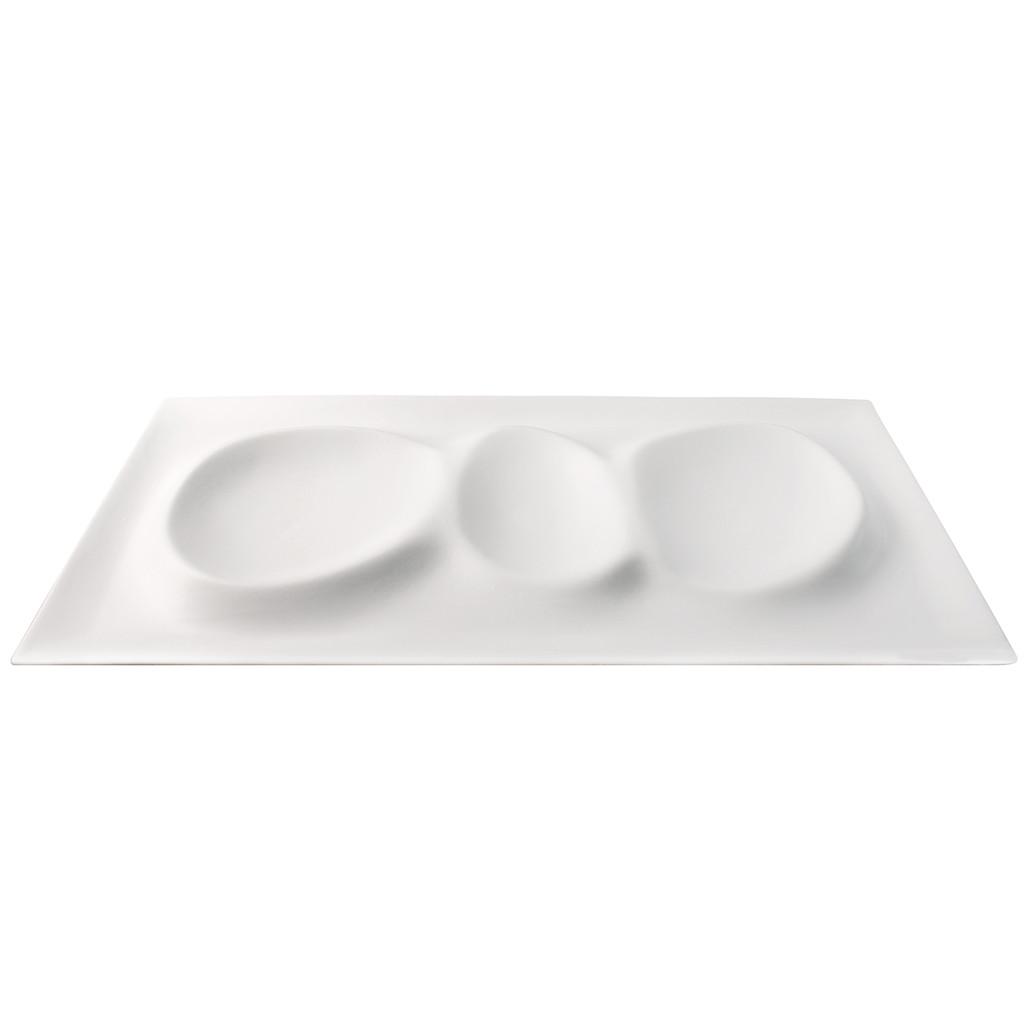 Porcelain Magma Tray x3