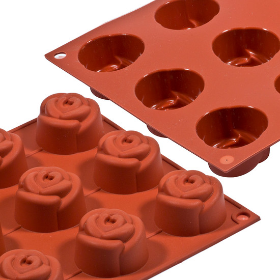 Silicon Mould - Rose x 15's