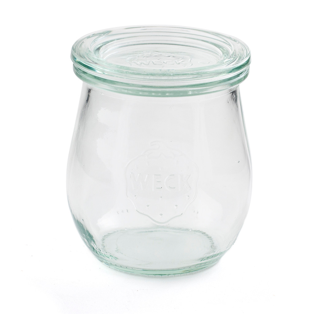Glass Yoghurt Pot With Lid