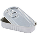 Aluminium Sardine Tin & Lid - Rectangle
