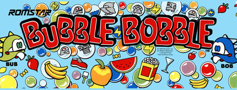 Bubble Bobble Video Arcade Marquee
