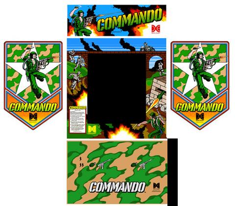 Commando Data East 5 piece graphic restore kit