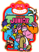 Donkey Kong Junior Video Arcade Side Art