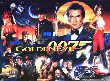 James Bond Goldeneye Pinball Translite