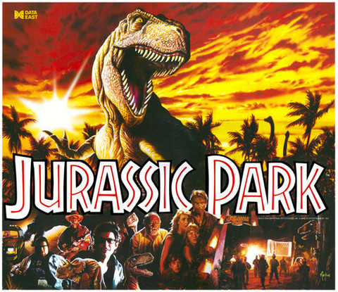Jurassic Park replacement pinball translite