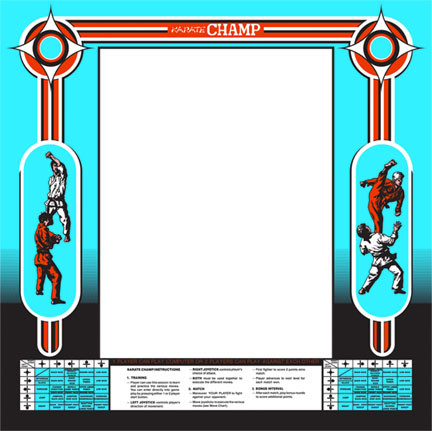 Karate Champ Upright Monitor Bezel Graphic