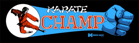 Karate Champ Video Arcade Marquee