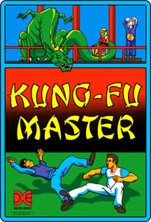 Kung-Fu Master Video Arcade Side Art