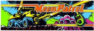 Moon Patrol Video Arcade Marquee