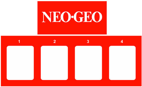 Neo Geo 4 slot Video Arcade Marquee 2 piece