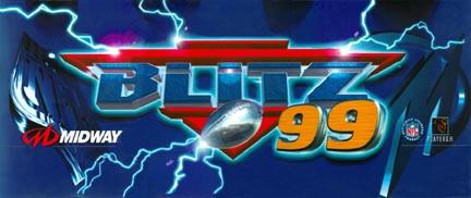 NFL Blitz 99 Video Arcade Marquee