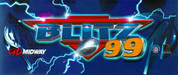 NFL Blitz 99 Video Arcade Marquee
