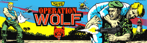 Operation Wolf Video Arcade Marquee