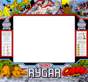 Rygar Upright Monitor Bezel Graphic