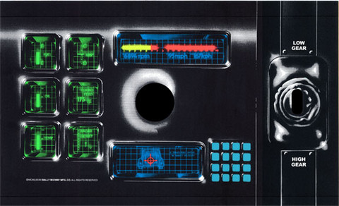 Spy Hunter Arcade Control Panel Overlay