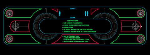 Tron Control Panel Overlay