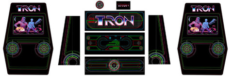 Tron upright 9 piece graphic restore kit