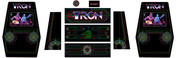 Tron upright 9 piece graphic restore kit