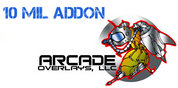 10 mil white add on for Video Arcade Marquee